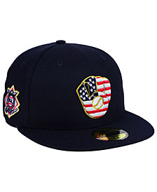 New Era Boys' Milwaukee Brewers Stars and Stripes 59FIFTY Fitted Cap