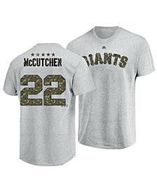 Majestic Men's Andrew McCutchen San Francisco Giants Camo Player T-Shirt