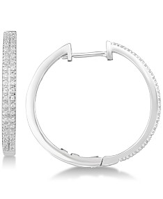 04be5f3585136 Silver Hoop Earrings: Shop Silver Hoop Earrings - Macy's