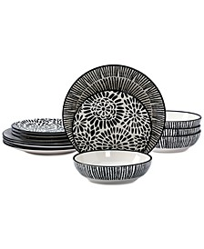 CLOSEOUT! Carter 12-Pc. Dinnerware Set