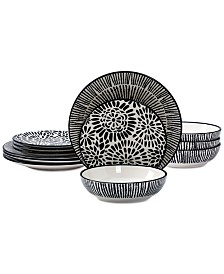 Tabletops Unlimited Carter 12-Pc. Dinnerware Set
