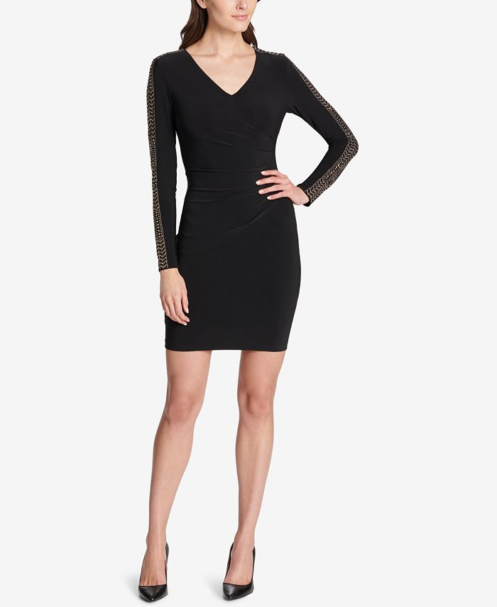 GUESS - Studded Ruched Sheath Dress