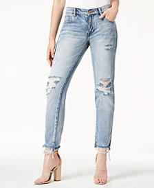 WILLIAM RAST Cotton Ripped Boyfriend Jeans