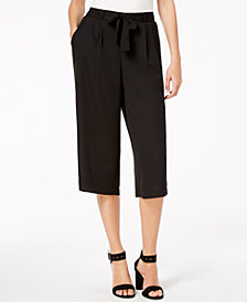 John Paul Richard Petite Tie-Front Cropped Pants