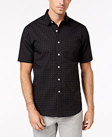 Club Room Men's Porter Dot-Print Shirt, Created for Macy's