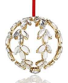 Holiday Lane Crystal Wreath Ornament, Created for Macy's