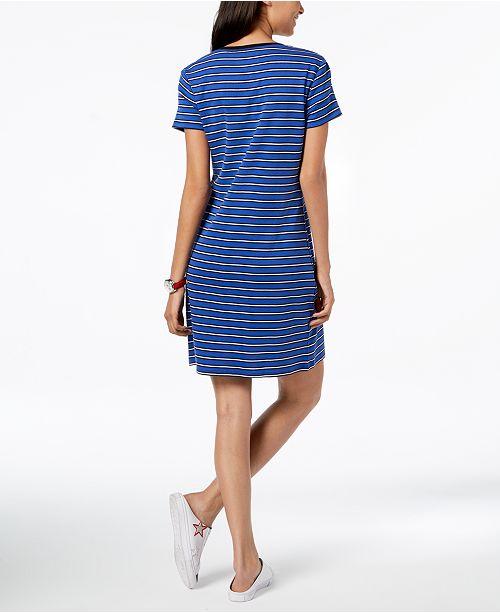 ... Tommy Hilfiger Cotton V-Neck T-Shirt Dress 6ac33f9fbf