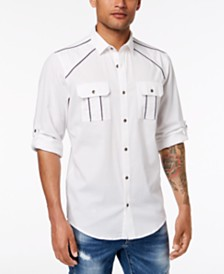 I.N.C. Men's Piped Shirt, Created for Macy's