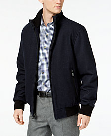Calvin Klein Men's Full-Zip Wool Bomber Jacket