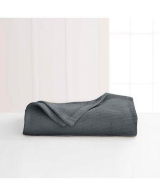 Cotton Diagonal-Weave Twin Blanket