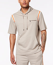 I.N.C. Men's Hooded Short Sleeve Sweatshirt, Created for Macy's