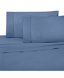 Under The Canopy Solid Brushed Cotton 4-Pc. Queen Sheet Set