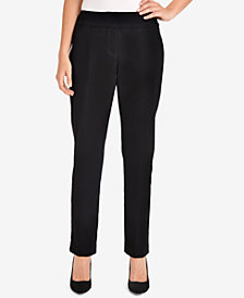 NY Collection Mid-Rise Slim-Leg Pants
