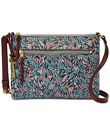 Fossil Fiona Printed Small Fabric Crossbody