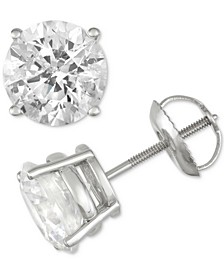 Diamond Stud Earrings (3 ct. t.w.) in 14k White Gold
