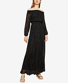 BCBGMAXAZRIA Smocked Off-The-Shoulder Maxi Dress