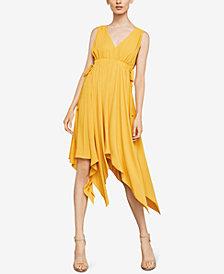 BCBGMAXAZRIA Asymmetrical Drawstring Dress