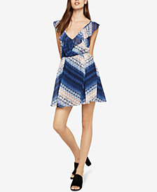 BCBGeneration Shibori Chevron A-line Dress