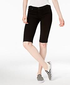 Amelia Cutoff Denim Bermuda Shorts