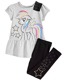 My Little Pony Toddler Girls 2-Pc. Graphic-Print Top & Leggings Set