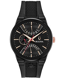 Men's Latin GRAMMY® Black Silicone Rubber Strap Watch 41mm