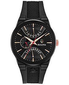 Bulova Men's Latin GRAMMY® Black Silicone Rubber Strap Watch 41mm