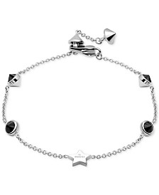 Gucci Black Spinel Station Bracelet in Sterling Silver