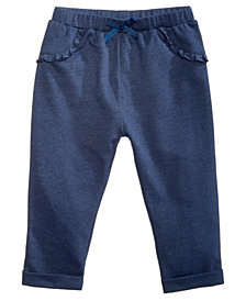 First Impressions Baby Girls Ruffle Jogger Pants, Created for Macy's