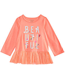 First Impressions Baby Girls Peplum Hem Graphic-Print Top, Created for Macy's
