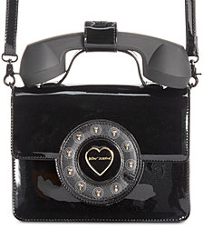 Betsey Johnson Patent Phone Crossbody