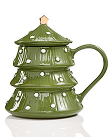 Martha Stewart Collection Lidded Tree Mug, Created for Macy's
