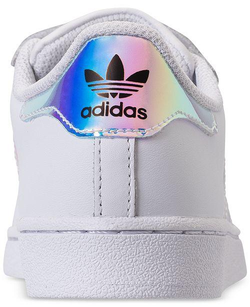 adidas Toddler Girls' Originals Superstar Stay Put Closure