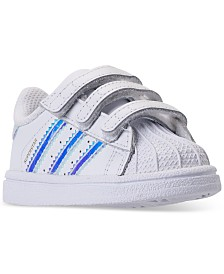adidas Toddler Girls' Originals Superstar Stay-Put Closure Casual Sneakers from Finish Line