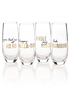 The Cellar Holiday Stemless Flutes, Set of 4, Created for Macy's