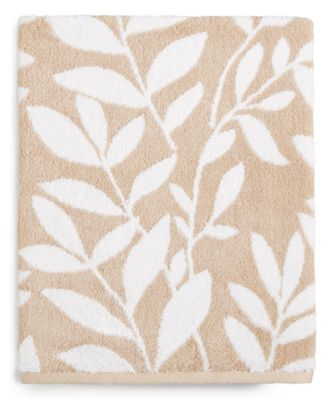 CLOSEOUT! Elite Fashion Leaves Cotton Bath Towel, Created for Macy's