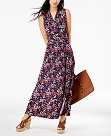 MICHAEL Michael Kors Petite Printed Maxi Dress