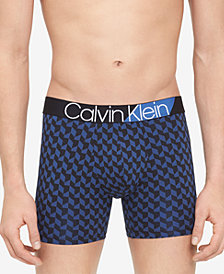 Calvin Klein Men's Bold Accent Printed Microfiber Boxer Briefs