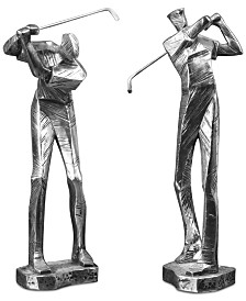 Uttermost Practice Shot Metallic Statues, Set of 2