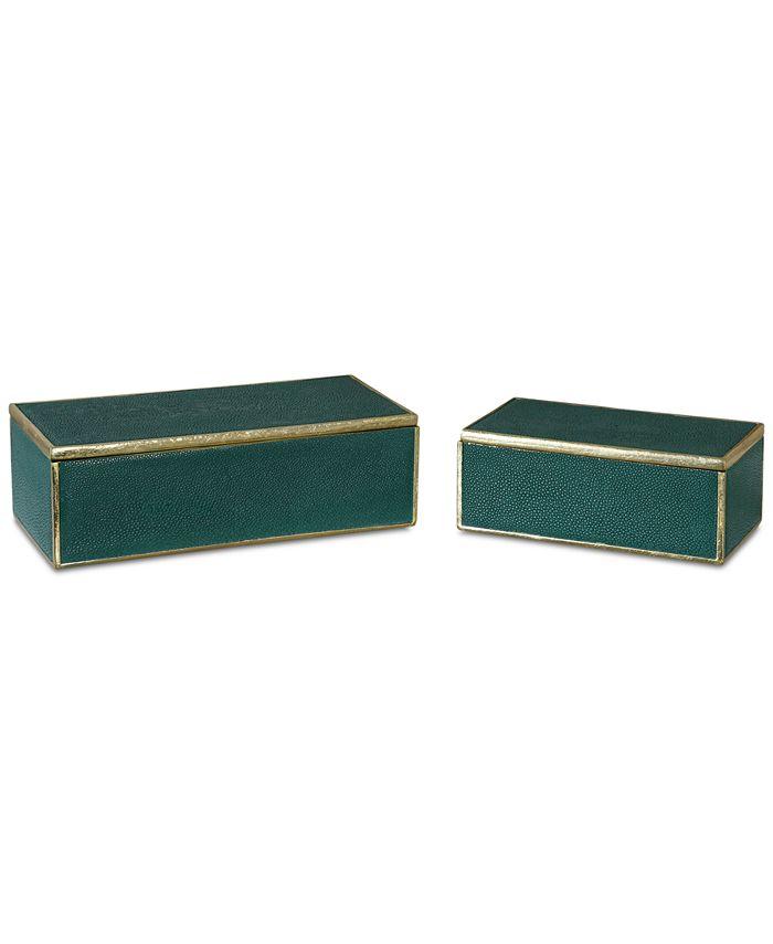 Uttermost - Set of 2 Karis Emerald Green Boxes