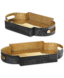 Gatha Bronze & Gold Trays, Set of 2