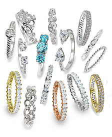 Giani Bernini Cubic Zirconia Stackable Ring Collection, Created for Macy's
