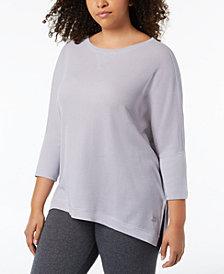 Calvin Klein Performance Plus Size 3/4-Sleeve Top