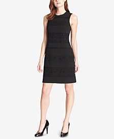 Tommy Hilfiger Lace-Contrast Sheath Dress