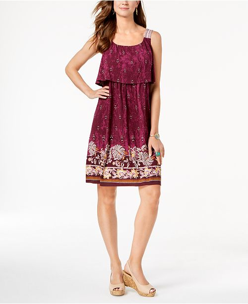 e09915e7b65 Style   Co. Petite Printed Flounce Dress