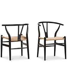 Caden Wishbone Chair (Set of 2), Quick Ship