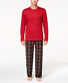 Club Room Men's Fleece Pajama Set, Created for Macy's