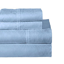Pointehaven Printed 4-Pc.. Full Sheet Set, 300 Thread Count Cotton Sateen