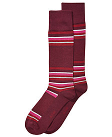 AlfaTech by Alfani Men's Blocked-Stripe Dress Socks, Created for Macy's