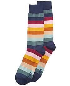 Bar III Men's Striped Socks, Created for Macy's