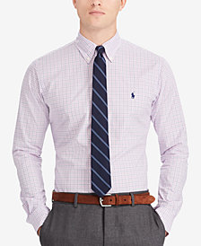 Polo Ralph Lauren Men's Big & Tall Classic Fit Plaid Cotton Poplin Shirt